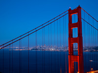 """golden gate bridge"" night ""blue hour"" ""san francisco"" california blue skyline cityscape"