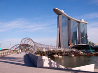 Double Helix Bridge, Marina Bay Sands